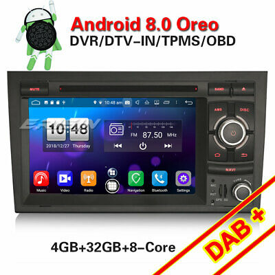 Android 8.0 DAB+Autoradio Navi WIFI 4G Canbus for Audi A4 S4 RS4 RNS-E Seat Exeo