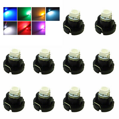 10pcs T3 Neo Wedge LED Bulb Cluster Instrument Dash Climate Base Lights Lamp @cs