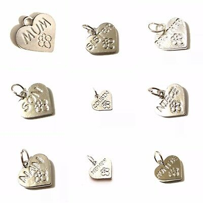 Clearance of 60 Personalised Heart Charms. Many Designs. Jewellery Making.