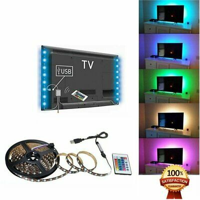 1M-5M RGB 5050 LED Strip Light 5V USB Color Changing TV PC Back Lighting+Remote