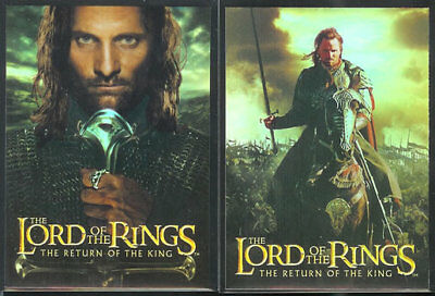 Lotr Rotk Return Of The King Bonus Foil Verpackung Flaschenaufsatz Set