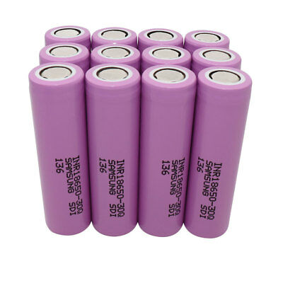 18650 30Q High Drain 3000mAh Battery Li-ion Rechargeable Flat Top for Vape Mod