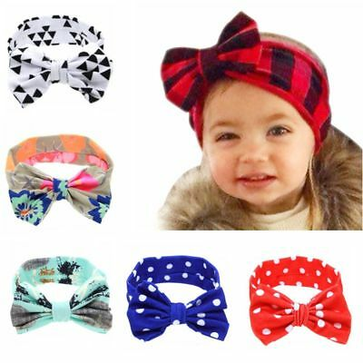 Baby Turban Knot Cute Floral Butterfly Bow Newborn Headband Hair Band For Infant
