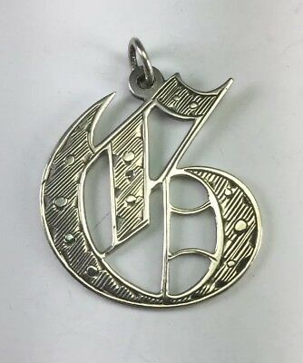 Antique 1868 George Unite Sterling Silver Initial ' G ' Pendant 150 Years Old!