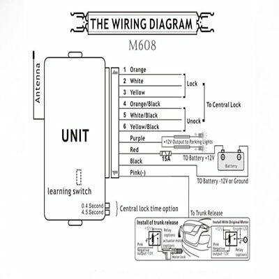 8217 Universal Car Remote Central Kit Auto Keyless remote central locking kit wiring diagram experts of wiring diagram \u2022