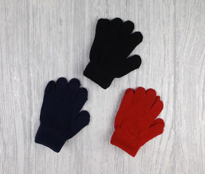Toddler gloves in red, black and navy