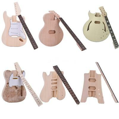 Muslady Unfinished DIY Electric Guitar Kit Mahogany/Basswood Body W0W2