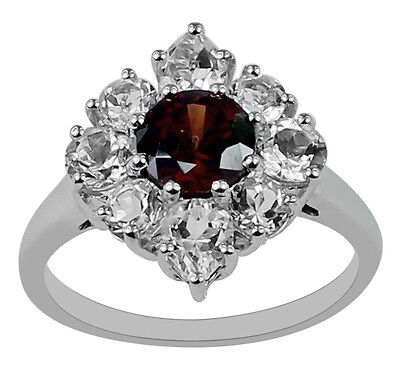 Brown Natural Zircon 1.46 Ct. Stunning Ring 925 Silver Top Quality Event Jewelry