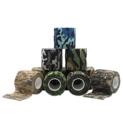 `New Camo Hunting Camping Hiking Camouflage Stealth Tape Wrap Waterproof.