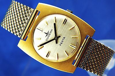 Vintage Retro Swiss Dugena Festa Mechanical Watch 1960S NOS Brand New Old Stock