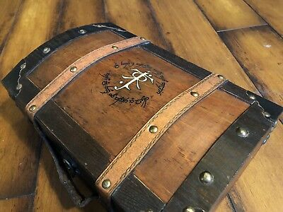 L JRR Tolkien book Chest Box Wooden The Lord of the Rings Hobbit Silmarillion