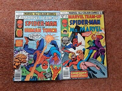 Marvel Team Up 61/62- Spiderman And Human Torch/ms Marvel
