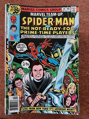Marvel Team Up 74- Spiderman And Not Ready For Prime Time Players!