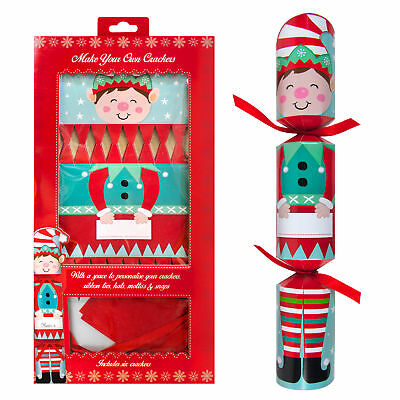 RSW 6 Pack Make your Own Christmas Cracker Kit - Elf