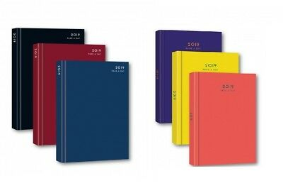 2019 A5 Day to page Appointment Diary Hard back Casebound Page a Day  Diary