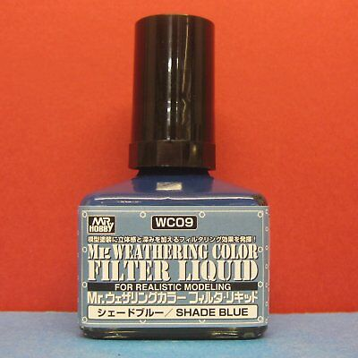 Mr. Hobby #WC09 Mr. Weathering Color for Realistic Modeling Filter Liquid [Shade