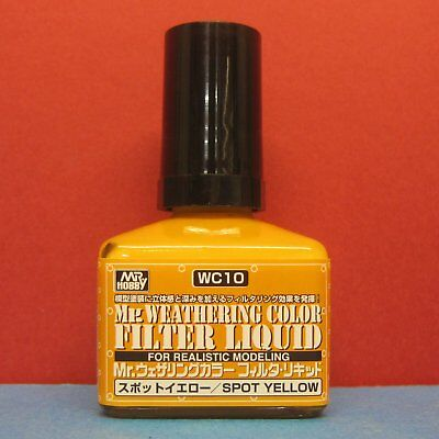 Mr Hobby #WC10 Mr Weathering Color for Realistic Modeling Filter Liquid [Yellow]