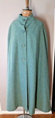 Rare Vintage 1950's Long Wool Cape Lined