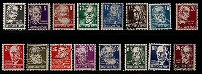 Item No. A5562 – Germany – Scott # 10N29-10N44 – MH/Used