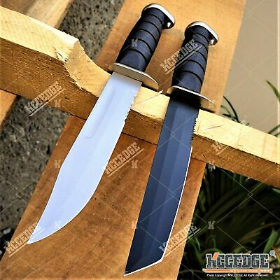 "11.5"" TACTICAL Fixed Blade BOWIE HUNTING KNIFE w/ Kydex Sheath"