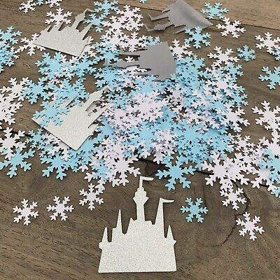FROZEN Princess Party CONFETTI | Snowflake & Glitter Castles Table Decorations