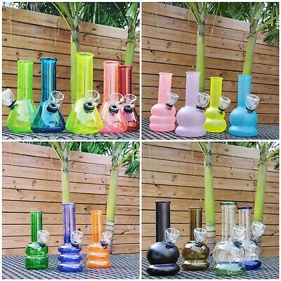Hookah Water Pipe Glass Bong 6 inch Smoking Pipe w/ Carb Hole - Bubbler
