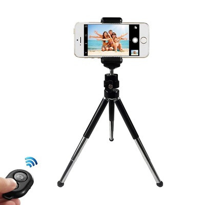 Metal Phone Tripod Stand Adjustable Portable Camera Holder Remote Control USA