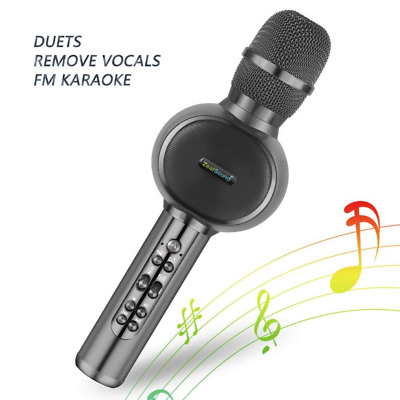 Karaoke Microphone Handheld Bluetooth Wireless Phone Music Mic Speaker