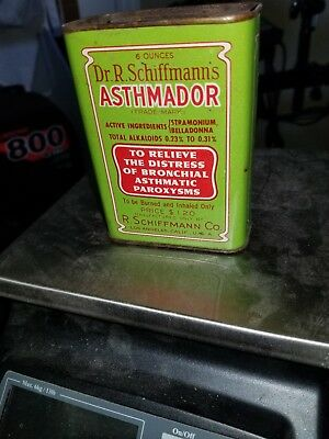 Rare Dr Shiffmanns Antique Vintage  Asthmador Full Contents