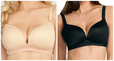 Freya Moulded Plunge 4231 Deco Wire Free Bra in NUDE OR BLACK COLOUR  (AA-12)