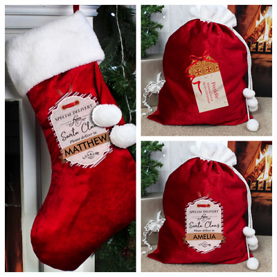 PERSONALISED ADULT CHRISTMAS SACK / STOCKING Family Present Girlfriend Gift Idea