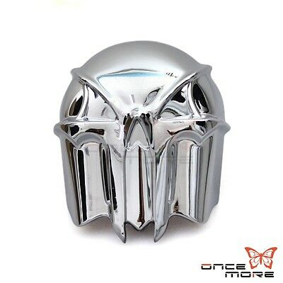 Motorcycle Chrome Stock Cowbell Skull Horn Cover For 1992-2013 Harley Davidson