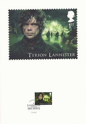 (74209) GB FDC Game of Thrones Souvenir Print 2018