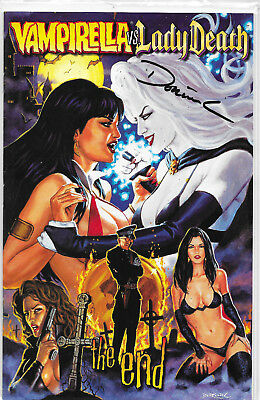 Vampirella Vs. Lady Death The End Signed Variant by Dorian Cleavenger NM-
