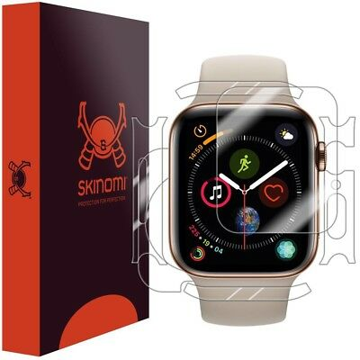 Skinomi [3PAK] FULL BODY Clear Skin+Scrn Protector for Apple Watch 44mm Series 4