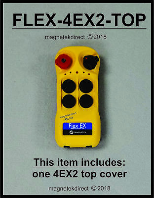 Magnetek FLEX-4EX2-TOP cover - radio remote control transmitter replacement part