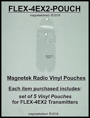Magnetek FLEX-4EX2-POUCH clear vinyl pouch for radio remote control transmitter
