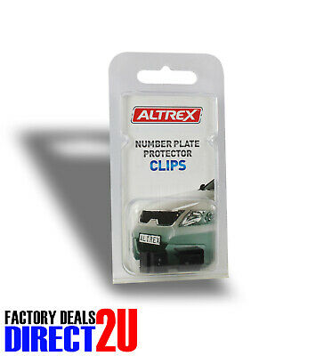 Altrex Replacement Black 'U' Shape Number Plate Cover Protector Clips Pack Of 4