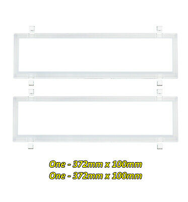 Number Plate Covers Dual Slimline WHITE Clear One Pair 6VSNLW QLD VIC SA WA NT