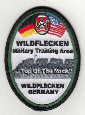 "Wildflecken Military Training Area, Germany  4""  embroidered oval patch"