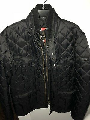 Barbour International Men's Windshield Quilted Black Jacket size XL