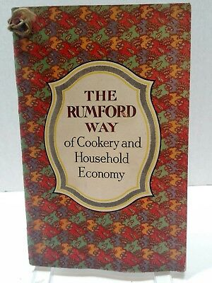 The Rumford Way of Cookery and Household Economy Vintage Cookbook T20