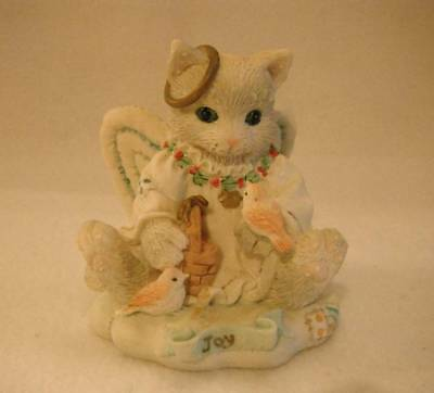 "Enesco Calico Kitten 4CI/975 ""Joy To The World"" Excellent Condition"