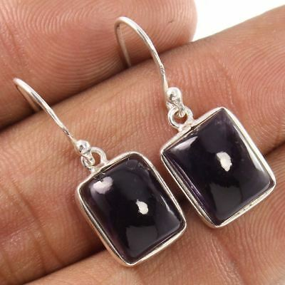 925 Sterling Silver Earrings Natural AMETHYST Rectangle Gemstone Wholesale Price