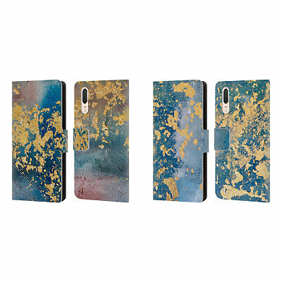 Official Cathy Standridge Texture Leather Book Wallet Case For Huawei Phones