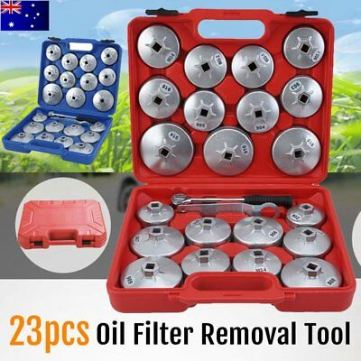 23PCS Cup Type Aluminium Oil Filter Wrench Removal Socket Remover Tool Kit AU