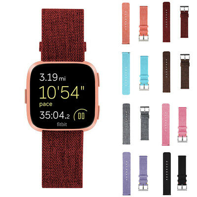Replacement Woven Fabric Nylon Wristband Watch Band Strap For Fitbit Versa