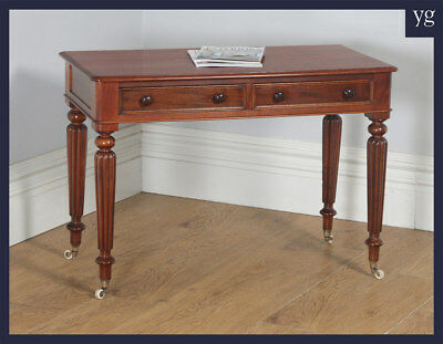 Antique English Victorian Mahogany Occasional Console Side Hall Writing Table
