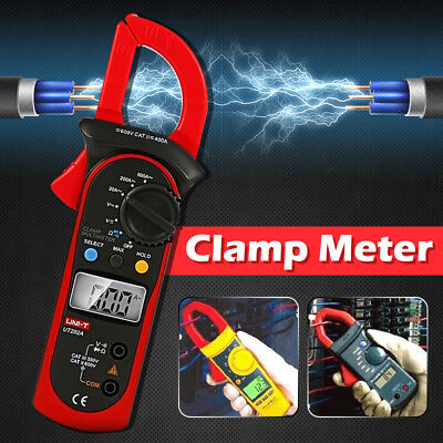 UNI-T Digital Clamp Multimeter Amp Meter OHM AC/DC Current Voltage Tester Probe