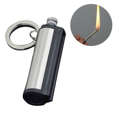 Steel Fire Starter Flint Match Lighter Keychain Camping Emergency Gear Survival